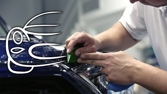 """Installation process and work required for a quality paint protection film """"clear bra"""" installation"""
