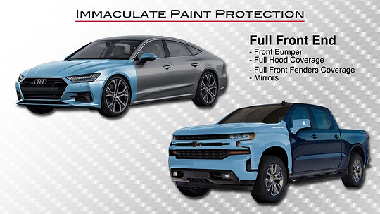 Explanation of paint protection film packages available to you