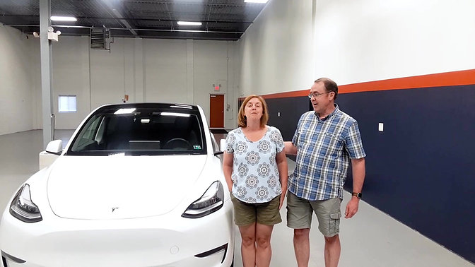 Tesla Model Y Clients Joann and Jim share their experience with Immaculate Paint Protection.