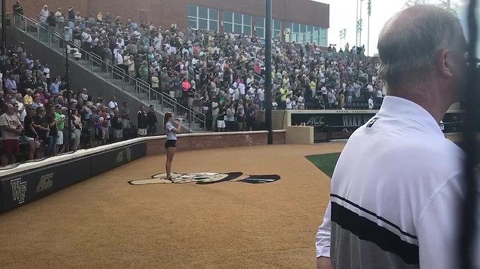 Star Spangled Banner @ Wake Forest University Baseball