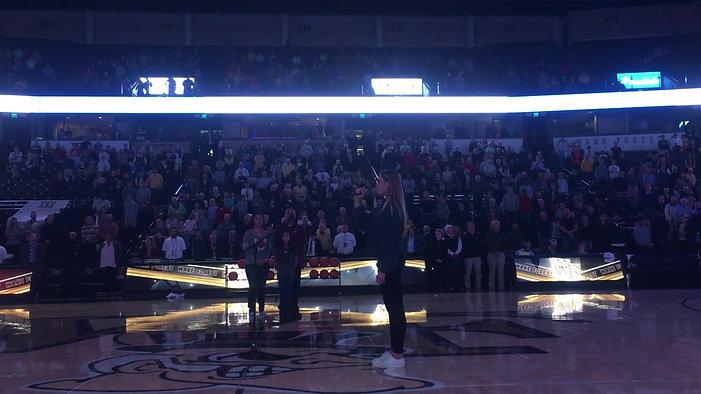 God Bless America @ Wake Forest University Basketball