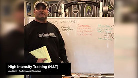 Program Design - High Intensity Training