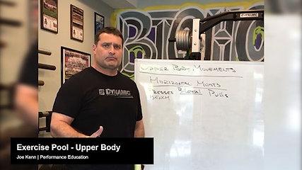 Exercise Pool - Upper Body