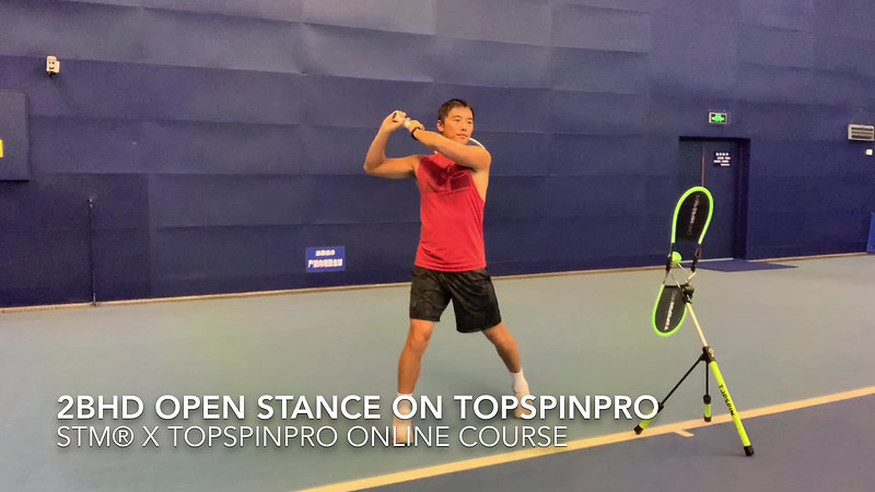 18 2Backhand Open Stance on TopspinPro