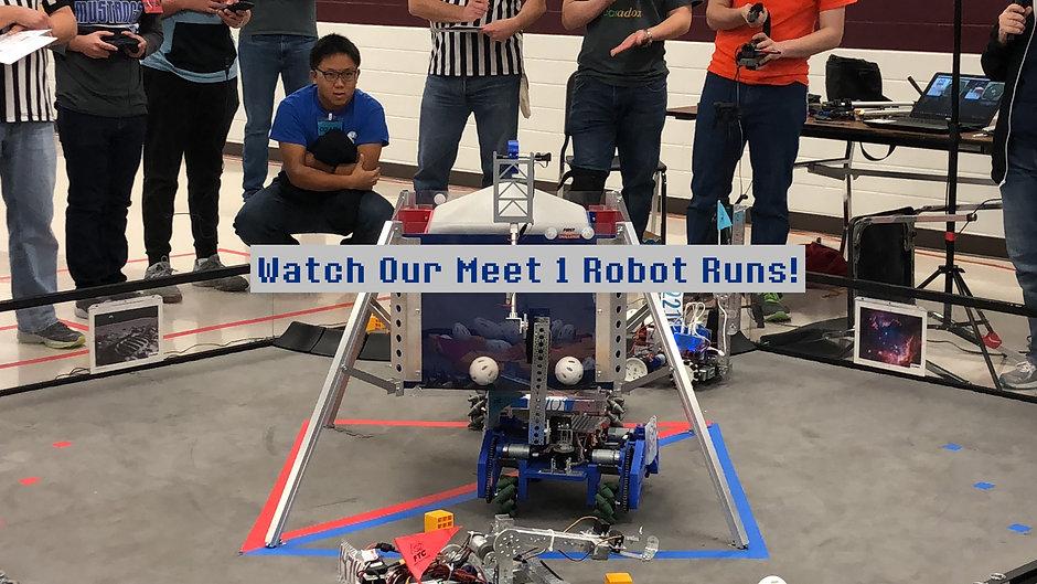 Meet 1 Robot Runs