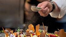 Demonstratie culinara - Chef Joseph Hadad Desert cu trabuc de foi. TASTE AMBASSADORS 2016