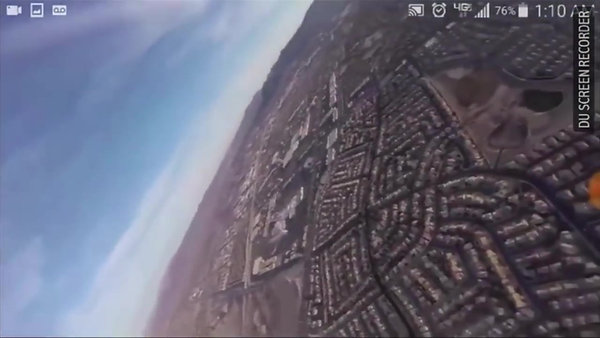Drone Flew Above Passenger Jet