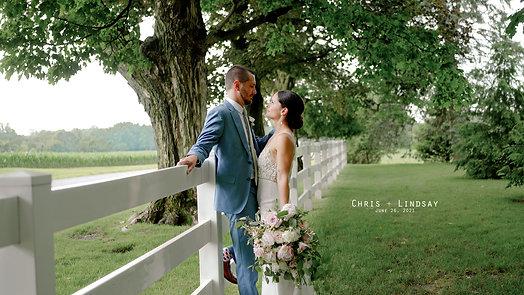 Chris and Lindsay at Hidden Vineyard