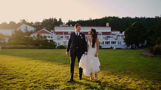 Laura and Chris on Mackinac Island