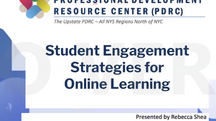 Student Engagement Strategies for Online Learning
