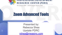 Zoom Advanced Tools for Learning Engagement