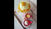 Kstar bingsu snow flake machine and ingredients