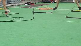 Girls Softball Foot Training