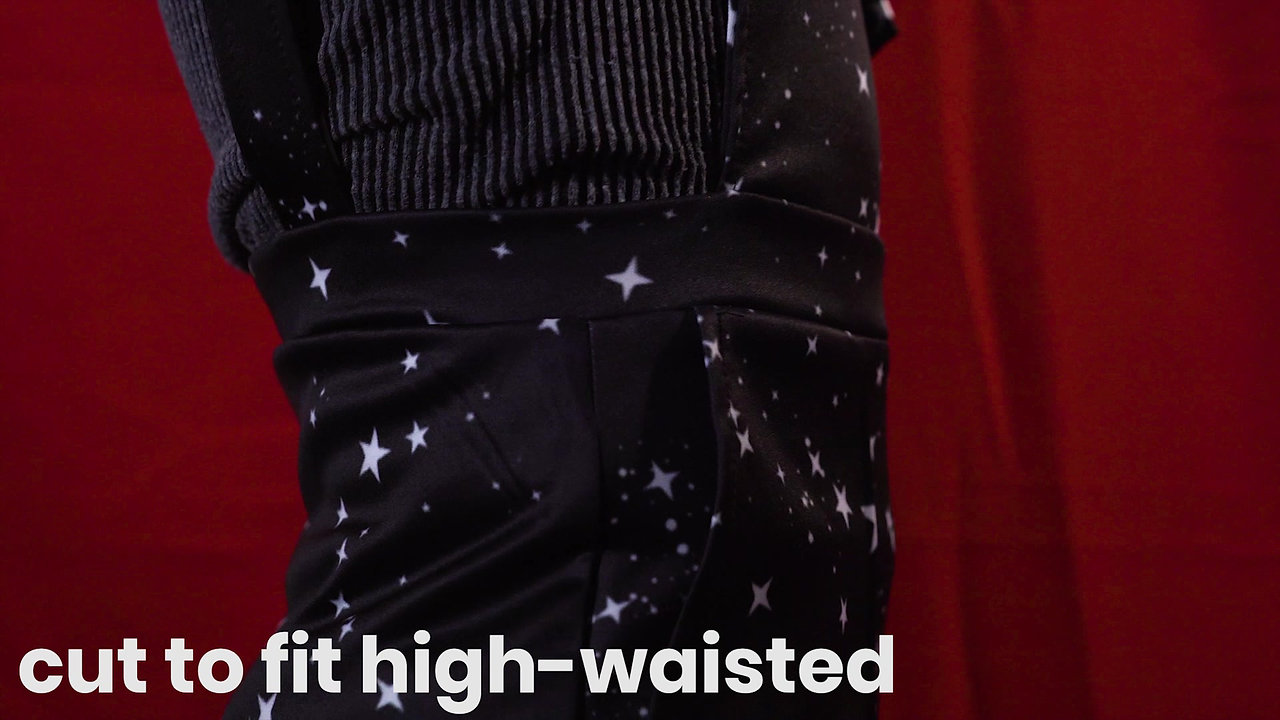 Star Print Overall Shorts Product Video