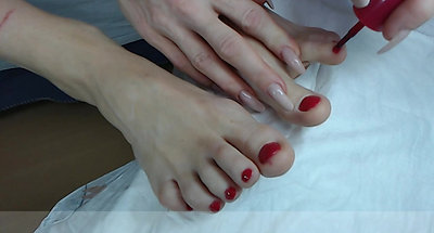Sexy  Toes Routine  ...painting  them Pink