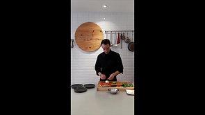 Recette apéro à la mozzarella, coppa, et basilic