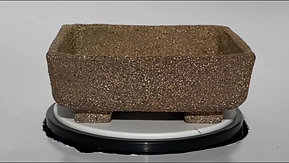 Brown Smooth Finish Square Bonsai Pot 1065