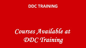 Some of the courses available at DDC Training