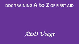 A to Z of First Aid: AED Usage