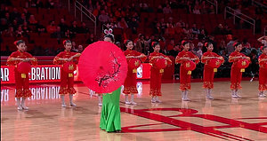 Rockets 2019-02-09 Halftime Dance of Asian America & DAA Dance Academy