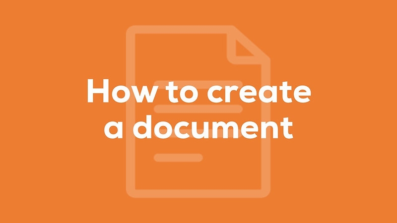 How to create a document with Templates