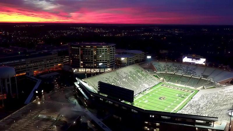Kinnick Stadium sunrise