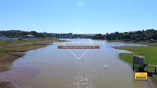 Desassoriamento da represa do Campestre Club l Monte Alto SP, Brasil
