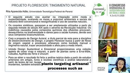 GT1 B467.106 - PROJETO FLORESCER: TINGIMENTO NATURAL