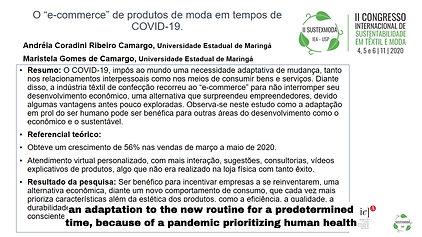 """GT3 B576.110 - O """"E-COMMERCE"""" DE PRODUTOS DE MODA EM TEMPOS DE COVID-19"""