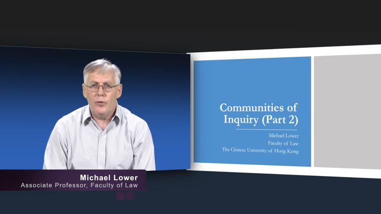 Communities of Inquiry (Part 2)