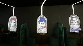 Stretch Fabric Light Installation