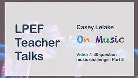 30 Question Music Challenge - Part 2
