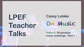 30 Question Music Challenge - Part 1