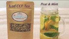 Iced CCF Tea with Pear & Mint