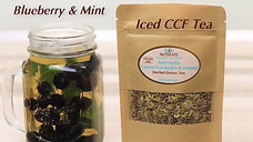 Iced CCF Tea with Blueberry & Mint