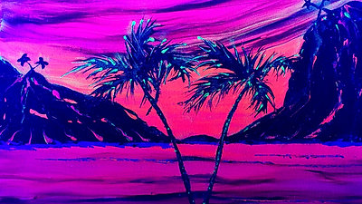"Preview Glow in the Dark ""Paradise Sunset"""