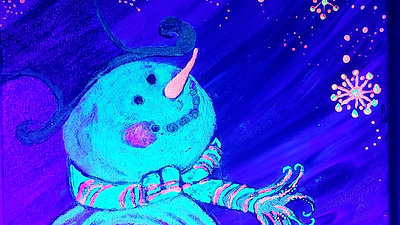 "Preview Glow in the Dark ""Snowflake Snowman"""