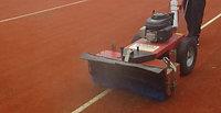 Artificial Grass Tennis Court Power Brushing