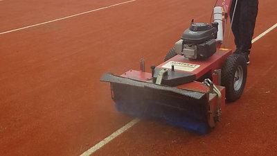 Power Brushing Artificial Grass Tennis Court by Absolute Tennis Courts Ltd
