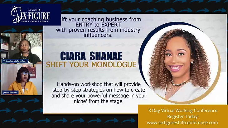 Shift Your Monologue with Speakers Coach Ciara Shanae