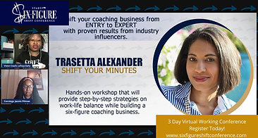Shift Your Minutes with Business Productivity Coach Trasetta Alexander