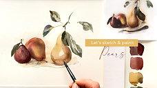 Watercolor painting techniques: Let's paint fruits