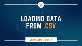 Loading Data from CSV
