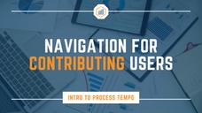 Navigation for Contributing Users