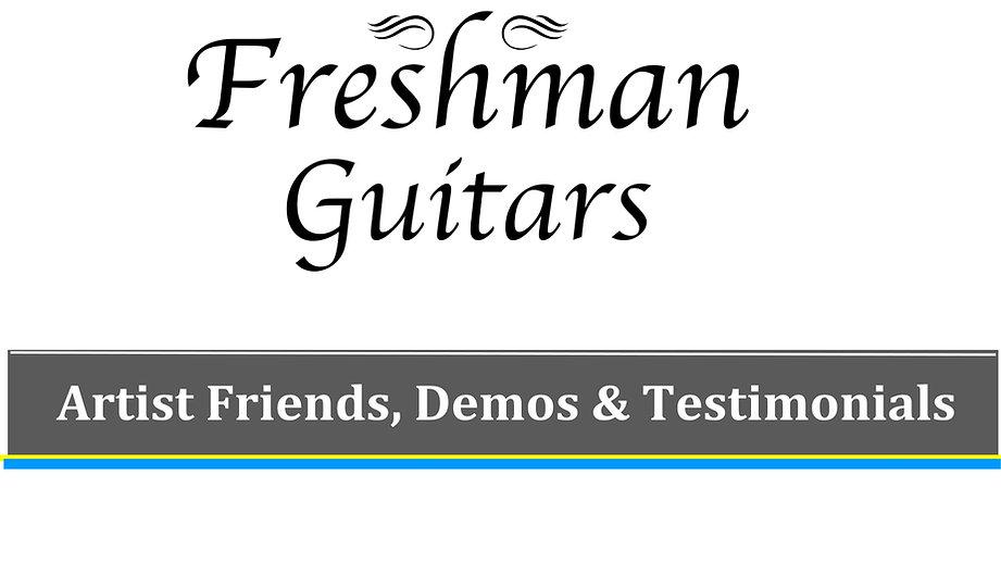 Artist Friends, Demos & Testimonials