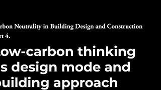 4- Low Carbon Thinking