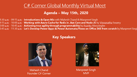 C# Corner Global Monthly Virtual Meet - May 2020