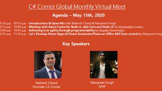 C# Corner Global Monthly Virtual Meet - May 2020