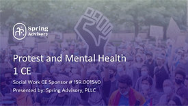 Protest and Mental Health (1CE)