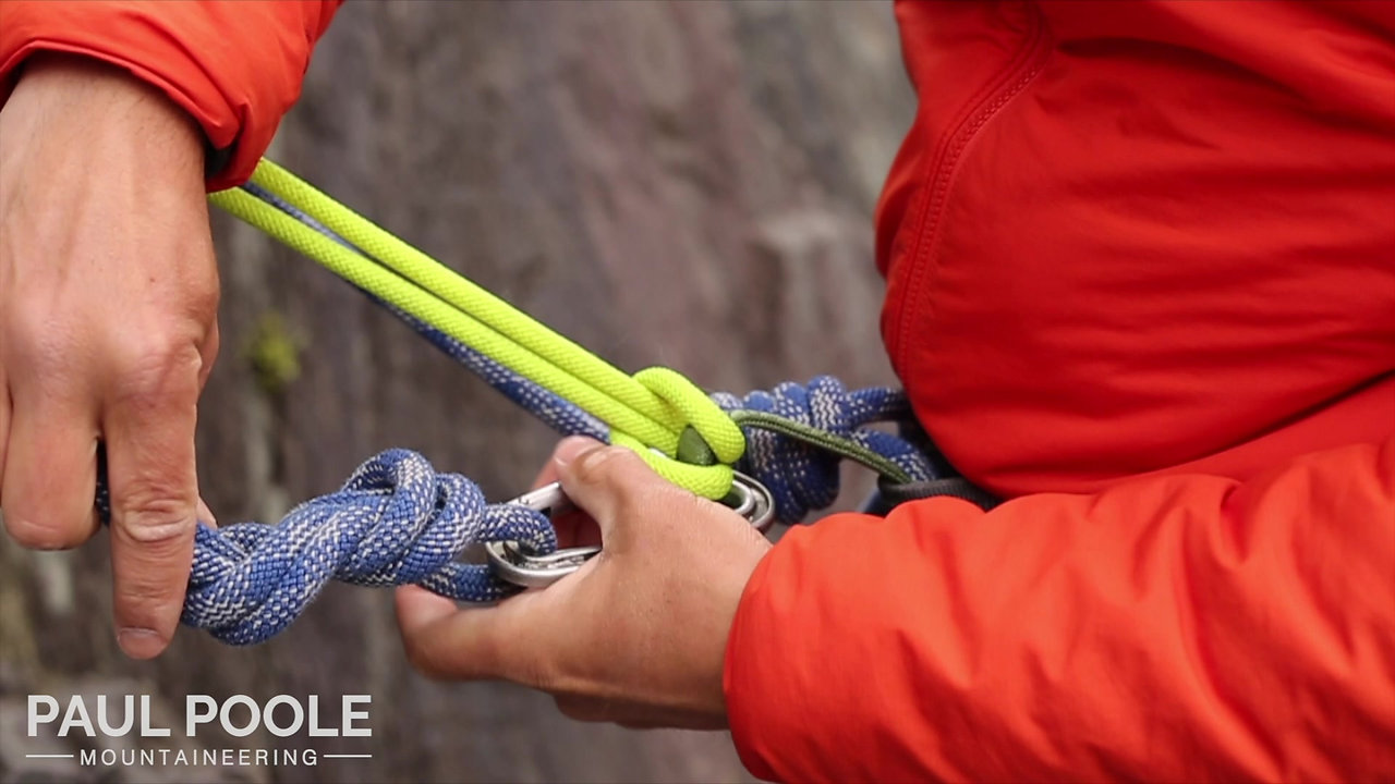 Using a cowtail at the top of a sport route